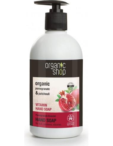 Sapone Liquido Mani Vitaminico Melograno e Patchouli Organic Shop Wingsbeat