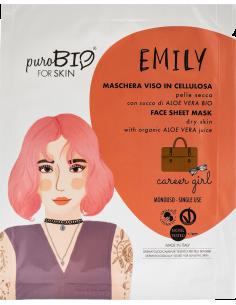 EMILY Maschera Viso Pelle Secca Career Girl