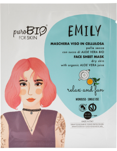 EMILY Maschera Viso Pelle Secca Relax And Fun