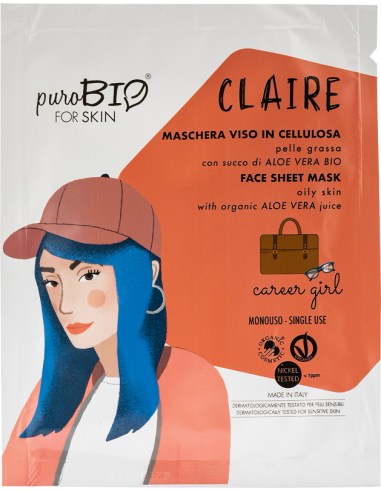 CLAIRE Maschera Viso Pelle Grassa Career Girl|Purobio|Wingsbeat