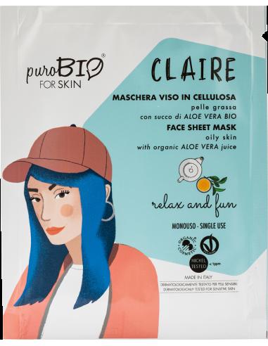 CLAIRE Maschera Viso Pelle Grassa Relax and Fun|Purobio|Wingsbeat