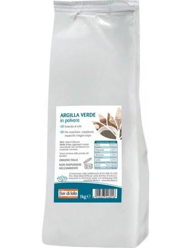 Argilla Verde Ventilata Essiccata 1 kg|Fior di Loto|Wingsbeat