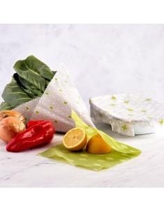 3 Vegan Food Wraps - Pellicola con Cera per Alimenti