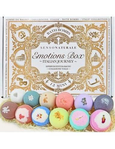 Emotion Box - Collezione Italia -12 Bombe Da Bagno Set Regalo|Senso Naturale|Wingsbeat