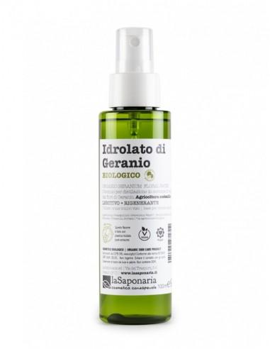 Idrolato di Geranio Bio 100 ml Con Spruzzino|La Saponaria|Wingsbeat