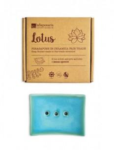 Lotus Portasapone in Ceramica
