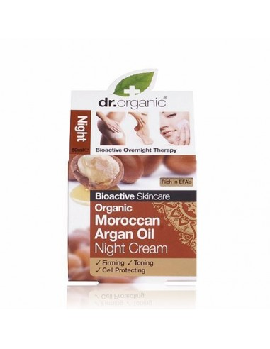 Organic Argan Night Cream Dr Organic - Wingsbeat