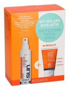Kit Solare Spray Protezione Media SPF25 + Doccia Shampoo Solare