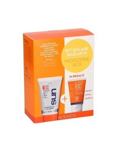 Kit Solare Crema Solare Corpo Protezione Alta SPF30 150ML + Doccia Shampoo Solare 50ml - Bioearth - Wingsbeat