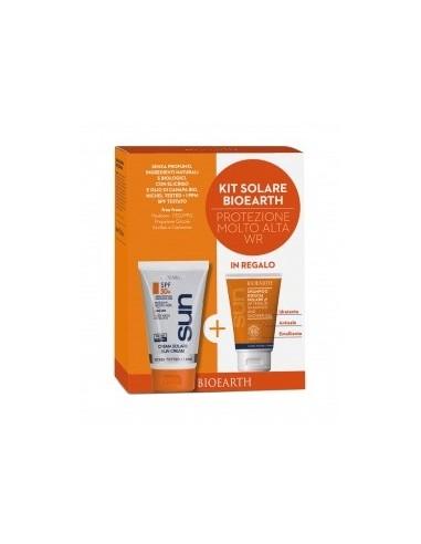 Kit Solare Crema Solare Corpo Protezione Molto Alta SPF50 WR 150ml + Doccia Shampoo 50ml - Bioearth - Wingsbeat