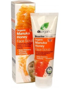 Organic Manuka Honey Face Scrub Dr Organic  - Wingsbeat