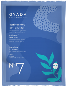 Maschera in tessuto - N°7  Astringente/Pori Dilatati - Gyada Cosmetics - Wingsbeat