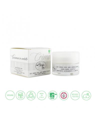 Bio crema viso sebo normalizzante senza burri vegetali 50 ml Bisoubio - Wingsbeat