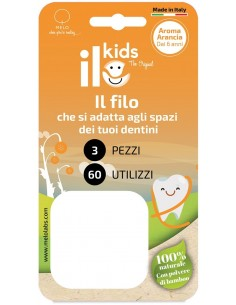 Ilo kids - filo interdentale all'aroma di arancia