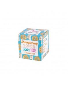 Shampoo solido per capelli secchi all'arancia