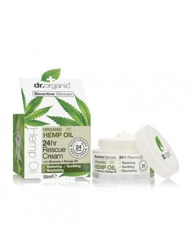 Organic Hemp Oil Rescue Cream - Crema Viso alla Canapa - Dr Organic - Wingsbeat