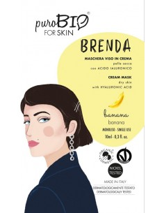 Brenda Maschera viso in crema Pelle Secca - Banana