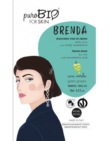 Brenda Maschera viso in crema Uva Verde Pelle Secca | Purobio| Wingsbeat