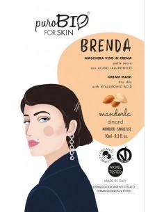 Brenda Maschera viso in crema Pelle Secca - Mandorla