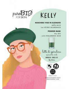 Kelly maschera viso peel off pelli secche - latte di spirulina