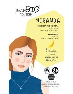 Miranda maschera viso in crema pelli grasse - banana