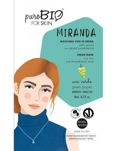 Miranda maschera viso in crema pelli grasse - uva verde