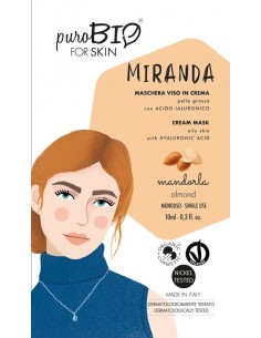Miranda maschera viso in crema pelli grasse - mandorla