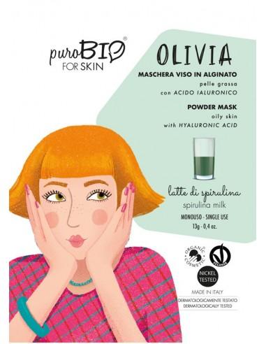 Olivia maschera viso in crema pelli grasse - latte di spirulina