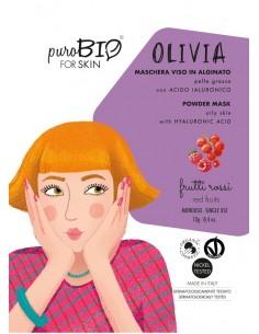 Olivia maschera viso in crema pelli grasse - frutti rossi