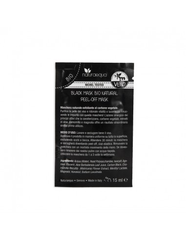 Black Mask Bio Natural-Monodose 15 ml|NaturaEqua|Wingsbeat