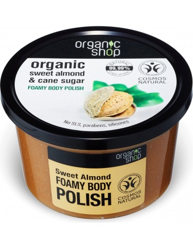 Scrub Corpo Levigante Schiumoso Mandorla, Zucchero e Sale|Organic Shop|Wingsbeat